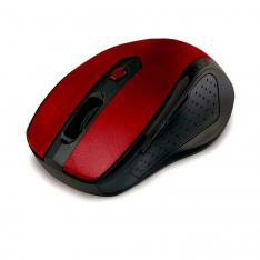 MOUSE RATON OPTICO PHOENIX PH516R+ WIRELESS INALAMBRICO 2.4GHZ NANO RECEPTOR 800-1600 DPI 5 BOTONES + SCROLL ROJO