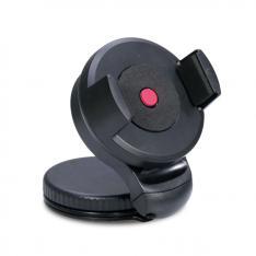 "SOPORTE DE COCHE PARA MOVIL PHOENIX PLEGABLE CON BOTON DE CIERRE RAPIDO PARA TELEFONO/ SMARTPHONE / PDA / GPS / PSP / IPHONE  / MP3 / MP4 HASTA 5.7"" APERTURA DE 5CM A 8CM ROTACION 360º NEGRO"