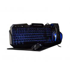 KIT TECLADO + RATON + AURICULARES + ALFOMBRILLA DEEPGAMING X-WING COOLBOX GAMING