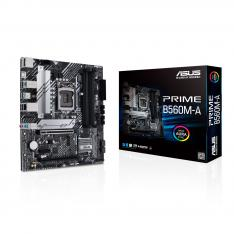 PLACA BASE ASUS INTEL PRIME B560M-A SOCKET 1200 DDR4 X4 MAX 128GB 3200 MHZ DISPLAY PORT HDMI mATX