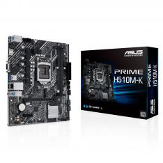 PLACA BASE ASUS INTEL PRIME H510M-K SOCKET 1200 DDR4 X2 MAX 64GB 2933MHZ D-SUB HDMI mATX