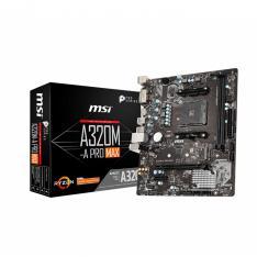 PLACA BASE MSI AMD A320M-A PRO MAX SOCKET AM4 DDR4 X2 2667MHZ MAX 32GB DVI-D HDMI MATX