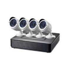 KIT VIDEOVIGILANCIA 720P CCTV LEVEL ONE 4 CANALES 4 CAMARAS INT / EXT + GRABADOR CABLES ILUMINACION LED (SIN HD)