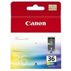 CARTUCHO TINTA CANON CLI 36 CIAN/ MAGENTA/ AMARILLO PIXMA MINI 260/ IP100