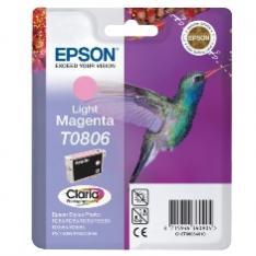 CARTUCHO TINTA EPSON T0806 MAGENTA CLARO 7.4ML STYLUS PHOTO R265/ 360/ RX560/ COLIBRI