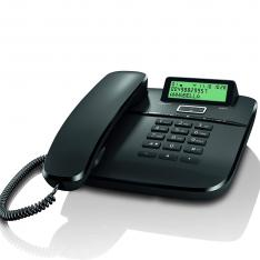 TELEFONO FIJO GIGASET DA611 NEGRO 100 NUMERIO AGENDA/ 10 MELODIAS