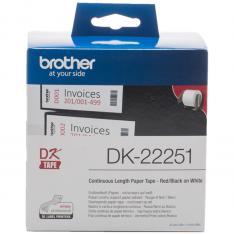 ETIQUETAS CINTA CONTINUA BROTHER DK22251 NEGRO/ ROJO 62MM 15.24M