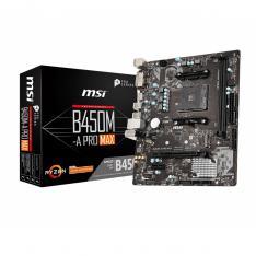 PLACA BASE MSI AMD B450M-A PRO MAX SOCKET AM4 DDR4 X2 2667MHZ MAX 32GB DVI-D HDMI MATX