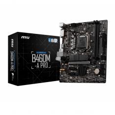PLACA BASE MSI INTEL B460M-A PRO SOCKET 1200 / DDR4 X2 / MAX 64GB / 2933MHZ / HDMI / DVI-D / MATX
