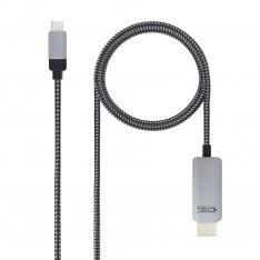 CABLE NANOCABLE CONVERSOR USB TIPO C A HDMI USB TIPO C/MHDMI/M NEGRO 1.8 M