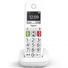 TELEFONO FIJO INALAMBRICO GIGASET E290 BLANCO 150 NUMEROS/ 21 TONOS