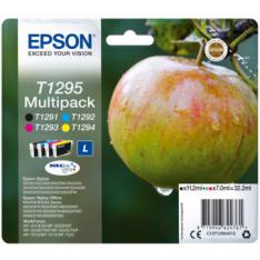 MULTIPACK TINTA EPSON C13T12954012 NEGRO/ CIAN/ MAGENTA/ AMARILLO MANZANA