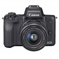 CAMARA DIGITAL REFLEX CANON EOS M50 M15-45 S/ CMOS/ 24.1MP/ DIGIC 8/ VIDEOS 4K/ WIFI/ NFC/ BLUETOOTH/ NEGRO
