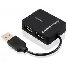 HUB EXTERNO CONCEPTRONIC USB 2.0 4 PUERTOS COMPACTO