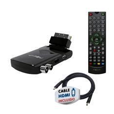 MINI RECEPTOR TDT NEVIR NVR-2505 EUROCONECTOR + HDMI USB GRABADOR