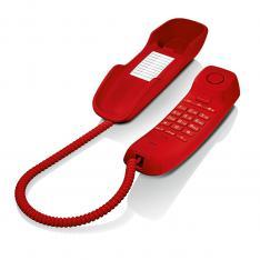 TELEFONO FIJO GIGASET DA210 ROJO 3 TONOS
