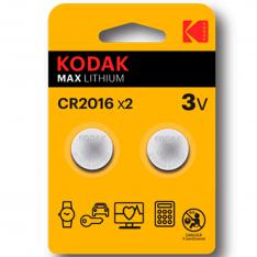 BLISTER PILAS KODAK BOTON LITIO ULTRA CR 2016 BLISTER 2 PILAS