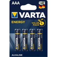 BLISTER PILAS VARTA ALCALINAS ENERGY LR-03 AAA/ 4 PILAS