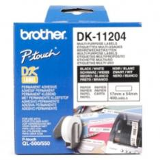 ETIQUETAS PAPEL PRECORTADA BROTHER DK11204 17 x 54 MM MULTIPROPOSITO 400 ETIQUETAS