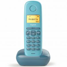 TELEFONO FIJO INALAMBRICO GIGASET A170 AZUL 50 NUMEROS AGENDA/ 10 TONOS