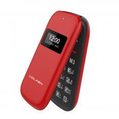TELEFONO VOLFEN FLIP ROJO DUAL DOBLE PANTALLA /DUAL SIM/PANTALLA 2.4