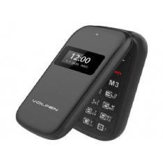 TELEFONO VOLFEN FLIP NEGRO DUAL DOBLE PANTALLA /DUAL SIM/PANTALLA 2.4