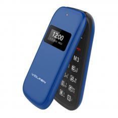 TELEFONO VOLFEN FLIP AZUL DUAL DOBLE PANTALLA /DUAL SIM/PANTALLA 2.4