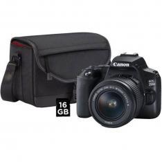 CAMARA DIGITAL REFLEX CANON EOS 250D + 18-55 + LIBRO Y TARJETA SD 16GB