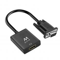 CABLE ADAPTADOR EWENT VGA A HDMI CON AUDIO / MACHO-HEMBRA
