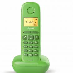 TELEFONO FIJO INALAMBRICO GIGASET A170 VERDE 50 NUMEROS AGENDA/ 10 TONOS