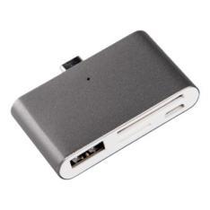 ADAPTADOR SILVER HT TIPO C 2 EN 1 (USB/SD/TC) DARK GREY