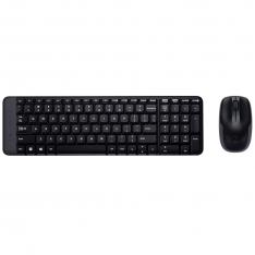 TECLADO + MOUSE LOGITECH MK220 WIRELESS INALAMBRICO NEGRO PORTUGUES