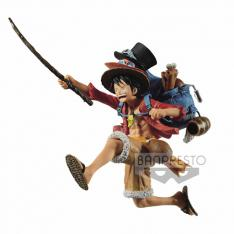FIGURA BANPRESTO ONE PIECE THREE BROTHERS LUFFY I