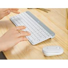 TECLADO + MOUSE LOGITECH MK470 WIRELESS INALAMBRICO BLANCO