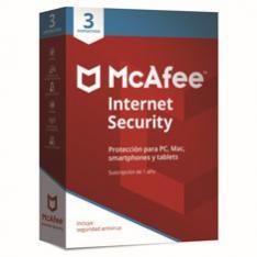 ANTIVIRUS MCAFEE INTERNET SECURITY 2019 3 DISPOSITIVOS