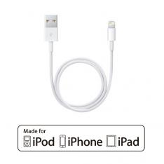 CABLE CONEXION APPLE PHOENIX USB MACHO A LIGHTNING MACHO 1M CERTIFICADO OFICIAL APPLE MFI IPHONE /  IPAD / CARGA SINCRONIZA OTG / BLANCO