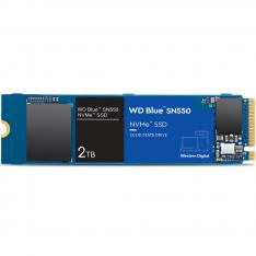 DISCO DURO INTERNO SOLIDO HDD SSD WD WESTERN DIGITAL BLUE SN550 WDS200T2B0C 2TB M2 PCI EXPRESS GEN 3 2280/L: 2600MB/S E: 1800MB/S