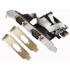 TARJETA L-LINK PCI EXPRESS 2 PUERTOS SERIE CON ADAPTADOR PARA PERFIL BAJO