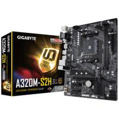 PLACA BASE GIGABYTE AMD A320M-S2H/ SOCKET AM4/ USB 3.1/ DDR4/ HDMI/ DVI-D/ VGA