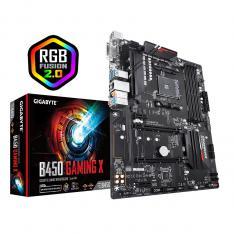 PLACA BASE GYGABYTE AMD B450 GAMING X SOCKET AM4 DDR4X4 2933MHZ MAX 64GB DVI-D HDMI ATX