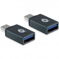 KIT ADAPTADORES CONCEPTRONIC USB TIPO C 3.1 MACHO A USB A 3.1 HEMBRA OTG 5GB/S PACK 2 UNIDADES