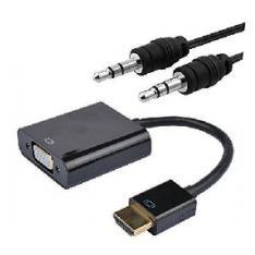 CONVERSOR NANOCABLE HDMI A VGA 0.15CM NEGRO