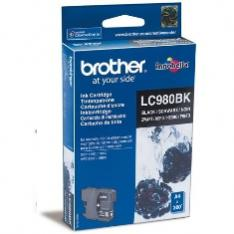 CARTUCHO TINTA BROTHER LC980BK NEGRO 300 PAGINAS DCP-165C/ DCP-195C/ DCP-375CW/ MFC-250C/ MFC-255CW