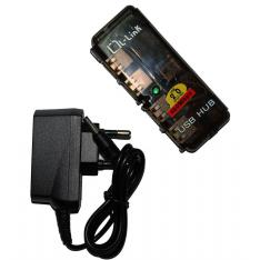 HUB L-LINK  4 PUERTOS USB 2.0 CON ALIMENTACION LL-UH-404L