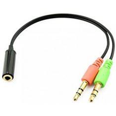 Cable conversor adaptador Phoenix de audio de Jack 4 pines Hembra a 2 jack 3.5 (micrófono y audio)