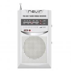 RADIO NEVIR DE BOLSILLO NVR-136 PLATA