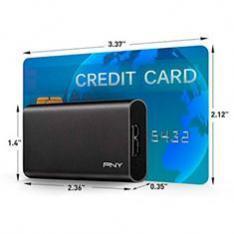 DISCO DURO EXTERNO SOLIDO HDD SSD PNY CS1050 960GB USB 3.1 NEGRO
