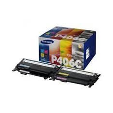PACK TONER SAMSUNG CLT-P406C CIAN AMARILLO MAGENTA NEGRO CLP-360/CLP-365 CLX-3300/CLX-3305/ C410W C460W