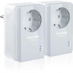 PACK X2 ADAPTADORES DE RED LINEA ELECTRICA 500MBPS POWERLINE CON ENCHUFE TP-LINK