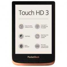 "POCKETBOOK TOUCH HD3 EREADER 6"" 16GB COBRE"